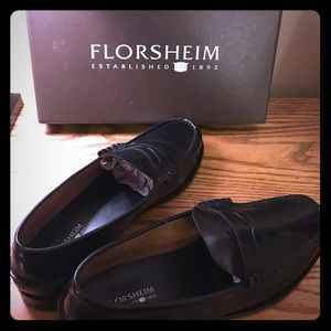 Florsheim Berkley Black Penny Loafers